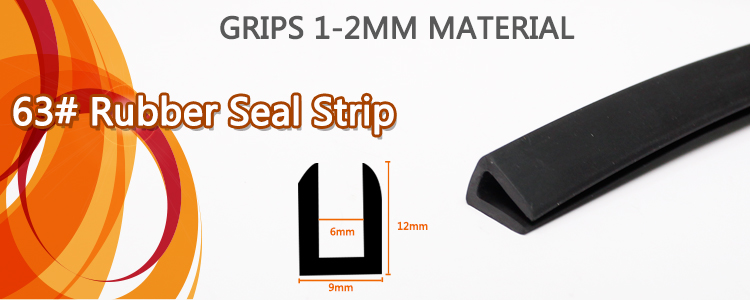 1m U Channel Pvc Door Edge Trim Rubber Seal Strip All
