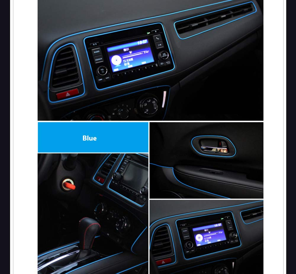 car auto interior decorative gap trim gap moulding edge line blue sold per meter. Black Bedroom Furniture Sets. Home Design Ideas