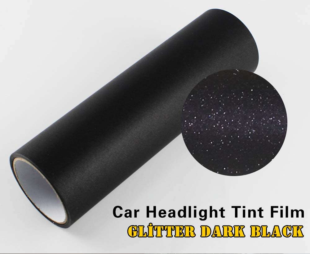 30 x 40cm glitter dark black headlight tint film car van rear light vinyl wrap ebay. Black Bedroom Furniture Sets. Home Design Ideas