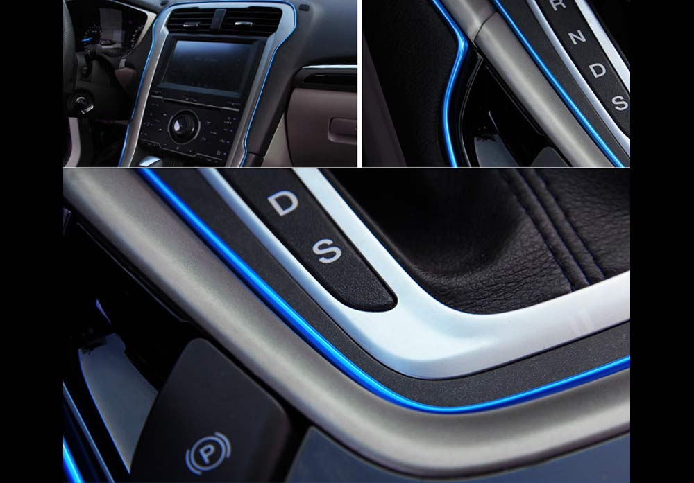 blue car edge gap trim line interior moulding accessory garnish decor strip 10m ebay. Black Bedroom Furniture Sets. Home Design Ideas