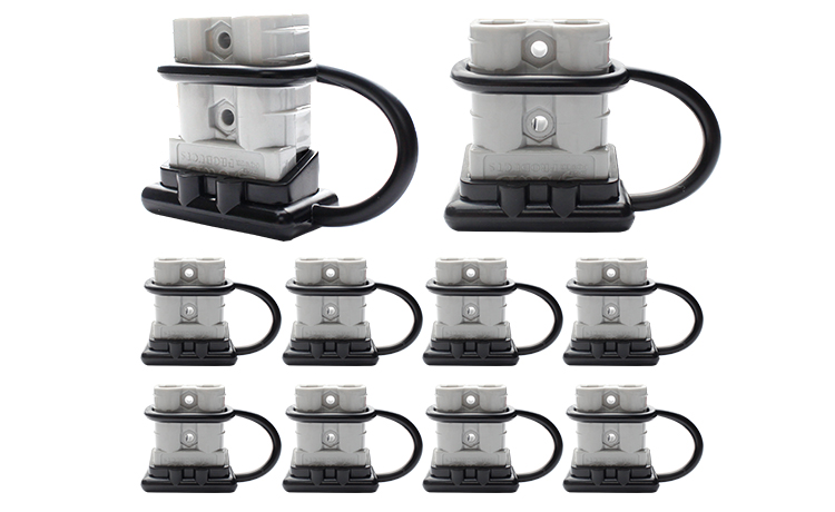 10x 50amp Anderson Plug Connector W Dust Cap Cover 12 24v