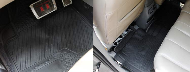 Front Amp Rear Rubber Car Floor Mat For Toyota Camry Corolla