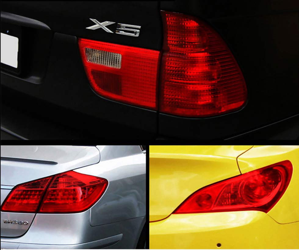 Car Headlight Tint Film Wraps Tail Fog Light Sticker Auto