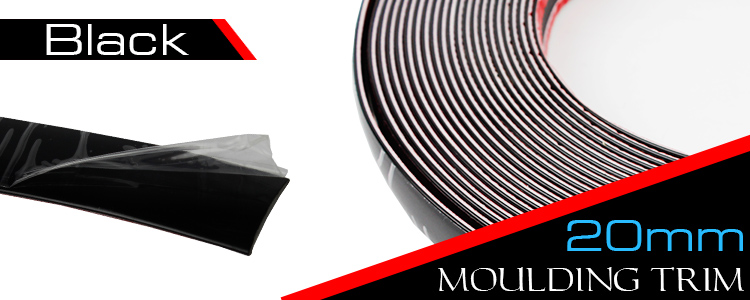 20mm Black Moulding Trim Strip 20ft Car Door Top Roof