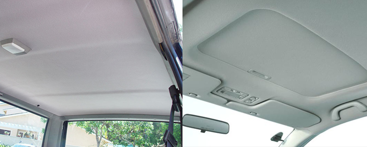 Lt beige upholstery auto headliner fabric 12 x60 roof lining headlining foam ebay Car interior ceiling fabric repair